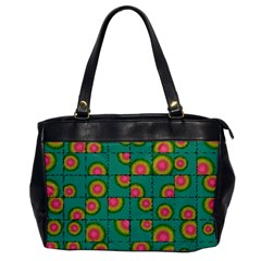 Tiled Circular Gradients Office Handbags