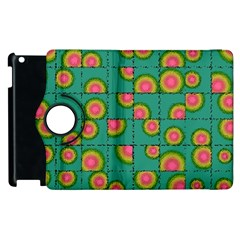 Tiled Circular Gradients Apple iPad 2 Flip 360 Case