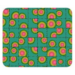 Tiled Circular Gradients Double Sided Flano Blanket (Small)
