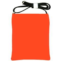 Neon Color   Light Brilliant Scarlet Shoulder Sling Bags