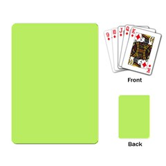 Neon Color - Light Brilliant Spring Bud Playing Card