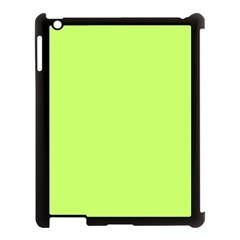 Neon Color - Light Brilliant Spring Bud Apple iPad 3/4 Case (Black)