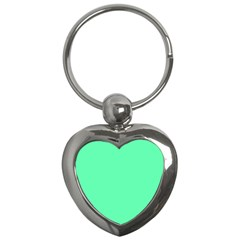 Neon Color - Light Brilliant Spring Green Key Chains (Heart)