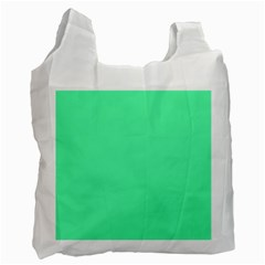 Neon Color - Light Brilliant Spring Green Recycle Bag (Two Side)