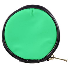 Neon Color - Light Brilliant Spring Green Mini Makeup Bags