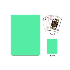 Neon Color - Light Brilliant Spring Green Playing Cards (Mini)