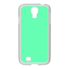 Neon Color - Light Brilliant Spring Green Samsung GALAXY S4 I9500/ I9505 Case (White)