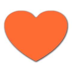 Neon Color - Light Brilliant Vermilion Heart Mousepads