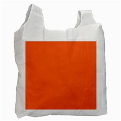 Neon Color - Light Brilliant Vermilion Recycle Bag (One Side)