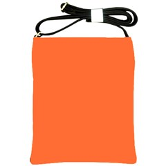 Neon Color   Light Brilliant Vermilion Shoulder Sling Bags