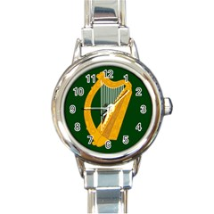 Flag of Leinster Round Italian Charm Watch