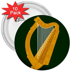 Flag of Leinster 3  Buttons (10 pack)