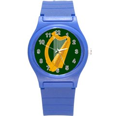 Flag of Leinster Round Plastic Sport Watch (S)