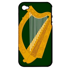 Flag of Leinster Apple iPhone 4/4S Hardshell Case (PC+Silicone)