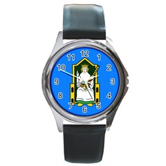 Flag Of Mide Round Metal Watch