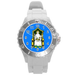 Flag Of Mide Round Plastic Sport Watch (L)