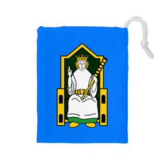 Flag Of Mide Drawstring Pouches (Large)