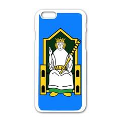 Flag Of Mide Apple iPhone 6/6S White Enamel Case