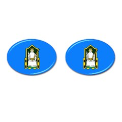 Flag of Mide Cufflinks (Oval)
