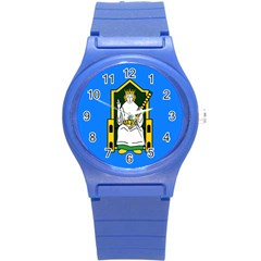 Flag of Mide Round Plastic Sport Watch (S)