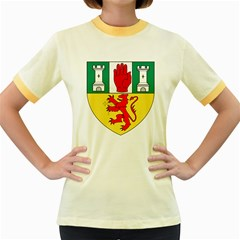 County Antrim Coat of Arms Women s Fitted Ringer T-Shirts
