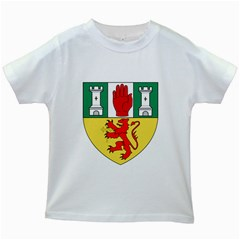 County Antrim Coat of Arms Kids White T-Shirts