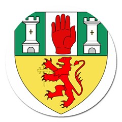 County Antrim Coat of Arms Magnet 5  (Round)