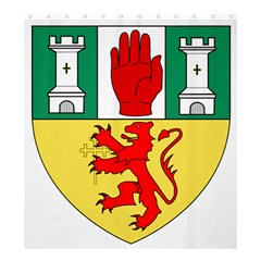 County Antrim Coat of Arms Shower Curtain 66  x 72  (Large)