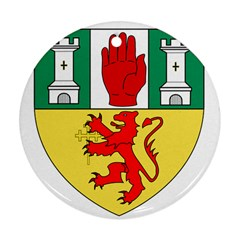 County Antrim Coat of Arms Ornament (Round)
