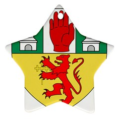County Antrim Coat of Arms Ornament (Star)