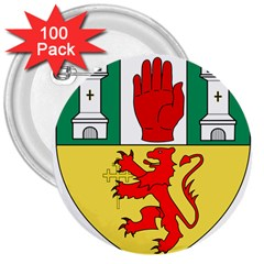 County Antrim Coat of Arms 3  Buttons (100 pack)