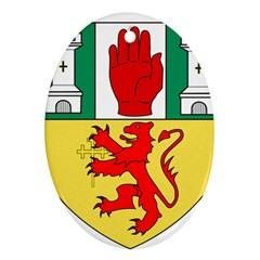 County Antrim Coat of Arms Oval Ornament (Two Sides)