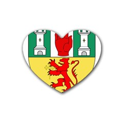 County Antrim Coat of Arms Rubber Coaster (Heart)