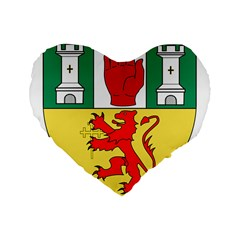County Antrim Coat of Arms Standard 16  Premium Flano Heart Shape Cushions