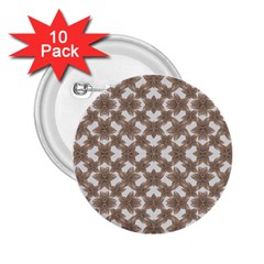 Stylized Leaves Floral Collage 2.25  Buttons (10 pack)