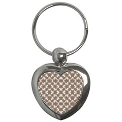 Stylized Leaves Floral Collage Key Chains (Heart)