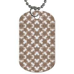 Stylized Leaves Floral Collage Dog Tag (One Side)