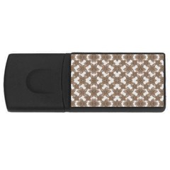 Stylized Leaves Floral Collage USB Flash Drive Rectangular (2 GB)