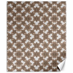 Stylized Leaves Floral Collage Canvas 8  x 10