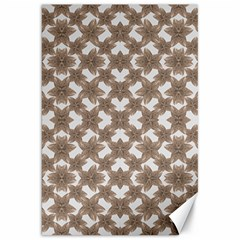 Stylized Leaves Floral Collage Canvas 20  x 30