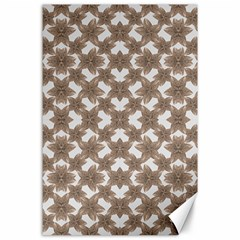 Stylized Leaves Floral Collage Canvas 24  x 36