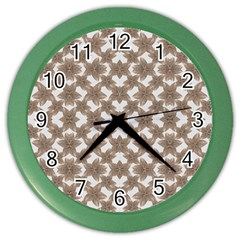 Stylized Leaves Floral Collage Color Wall Clocks