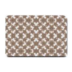 Stylized Leaves Floral Collage Small Doormat