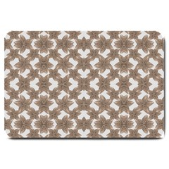 Stylized Leaves Floral Collage Large Doormat