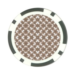Stylized Leaves Floral Collage Poker Chip Card Guard