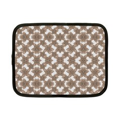 Stylized Leaves Floral Collage Netbook Case (Small)