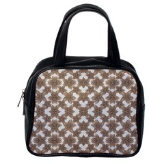 Stylized Leaves Floral Collage Classic Handbags (One Side)