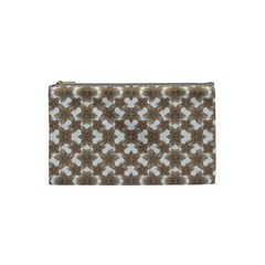Stylized Leaves Floral Collage Cosmetic Bag (Small)