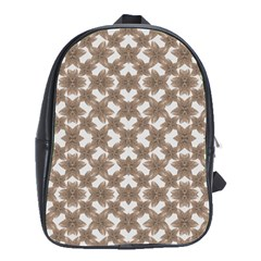 Stylized Leaves Floral Collage School Bags(Large)