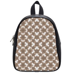Stylized Leaves Floral Collage School Bags (Small)